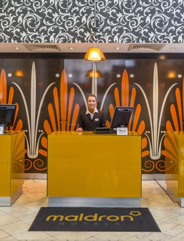 Maldron Hotel Parnell Square Dublin reception