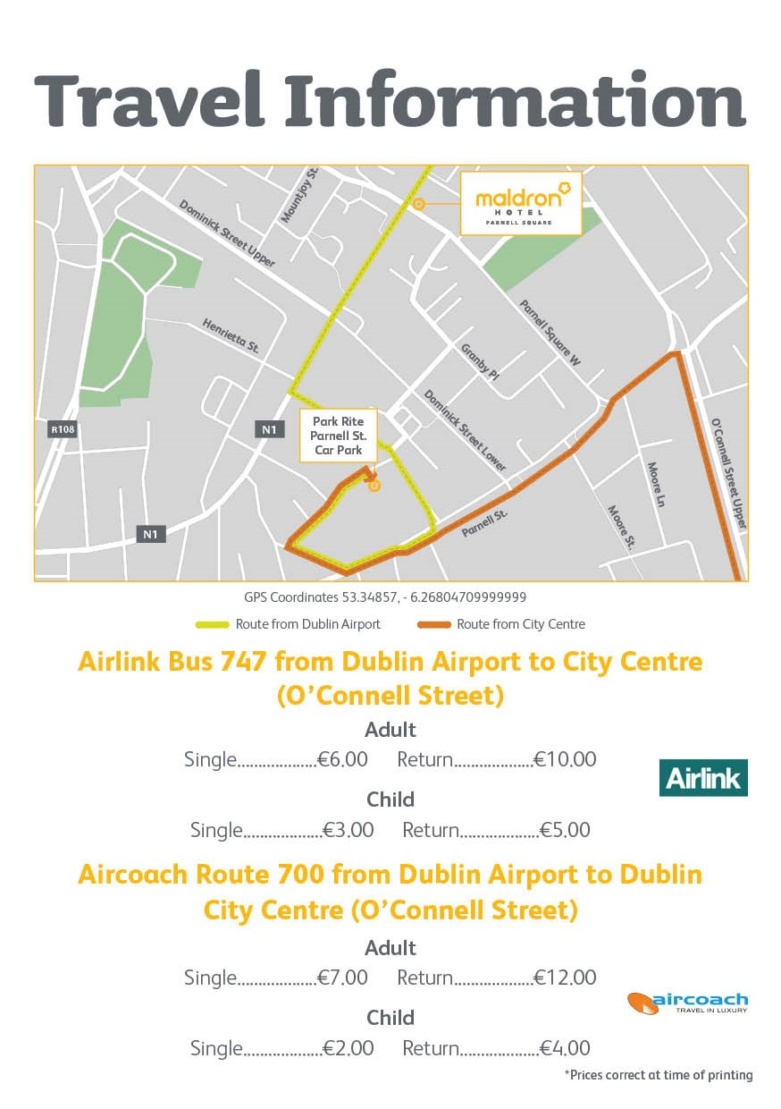 Location & Directions to Maldron Parnell Sq | Maldron Hotel Parnell on